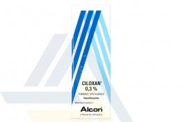 CILOXAN 0.3% OPHTHALMIC OINTMENT French 0.3% 1 tube x 3.5gms