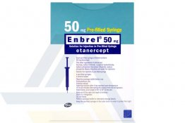 ENBREL® 50 MG Pre-Filled Syringe 50 mg 4 pre-filled syringes, 4 alcohol swabs